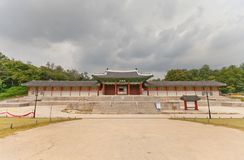 Sungjeongmunpoort van Gyeonghuigung-Paleis (1617) in Seoel, Korea Royalty-vrije Stock Afbeeldingen