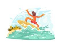 sunglass的冲浪者人 免版税库存照片