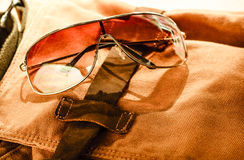 Sunglass with bag Stock Photography