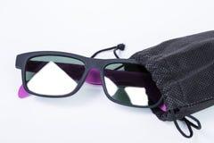 Sunglass bag black color Royalty Free Stock Photography