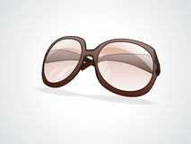 Sunglass de Brown sobre el fondo blanco Imagen de archivo libre de regalías