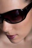 sunglass de fille image stock