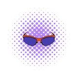 Sunglass icon, comics style Royalty Free Stock Image