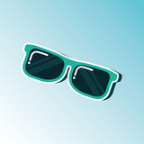 sunglass  icon  design Royalty Free Stock Images