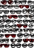 Sunglass modebakgrund Arkivfoto