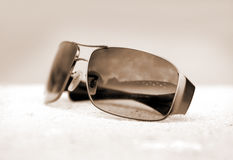 Sunglass reflection Royalty Free Stock Photography