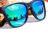 Sunglass reflection Stock Images