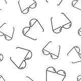 Sunglass sömlös modellbakgrund Plan vektorillus för affär Arkivbild