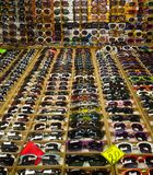 Sunglass samling Arkivfoto