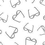 Sunglass seamless pattern background. Business flat vector illus Stock Photography