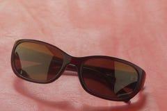 Sunglass shoppar med många val av linser och exponeringsglas i differe Arkivfoto