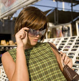 Sunglass Shopping 8 Stock Image