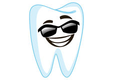 Sunglass Tooth Cartoon Character Illustration Stock Image