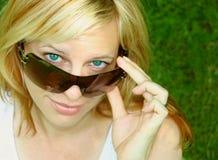 Sunglass woman Stock Image