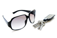 Sunglasse and keys Stock Image