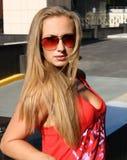 sunglasse kobieta Zdjęcia Stock