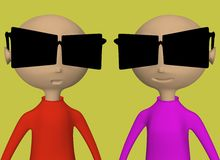 Sunglasses. A picture of types with sunglasses Royalty Free Stock Images