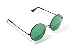 Sunglasses. Green sunglasses on a white background Stock Images