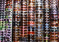 Sunglasses. A stand of multicolor sunglasses at Camden Town, an attractive zone of London Royalty Free Stock Photo