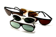 Sunglasses. Old retro sunglasses isolated on a white Royalty Free Stock Image