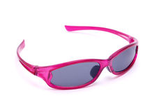 Sunglasses. Pink sunglasses on white background Royalty Free Stock Image