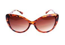 Sunglasses. Brown sunglasses  on white background Stock Photo