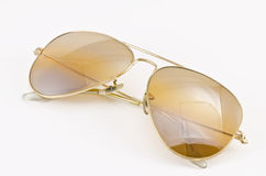 Sunglasses. Old style sunglasses on white background Royalty Free Stock Photos