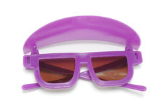 Sunglasses. Purple Sunglasses on White Background Royalty Free Stock Photos