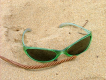Sunglasses. On sand stock image
