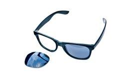 Sunglasses. Broken sunglasses on white blackground Stock Image