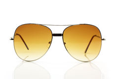 Sunglasses. Brown sunglasses on white background Stock Photography