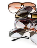 Sunglasses. Collection of sunglasses on white background Royalty Free Stock Images