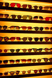 Sunglasses. Various colorful sunglasses on display Stock Image