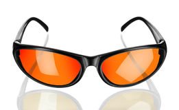 Sunglasses. On the white background Royalty Free Stock Photography