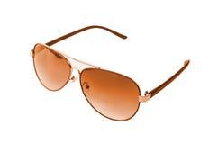 Sunglasses. Orange sunglasses on the white background Stock Images