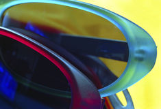 Sunglasses. Of color Stock Image