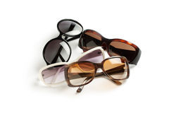 Sunglasses. Four stylish sunglasses isolated on white Stock Photo