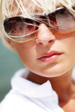 Sunglasses. Portrait of beautiful sexy woman in sunglasses Royalty Free Stock Photos