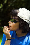 Sunglasses. Boy with sunglasses, relaxing Stock Photos