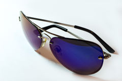 Sunglasses aviator ultraviolet isolete on wite Royalty Free Stock Image