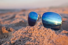 Sunglasses at the beach Stock Photography