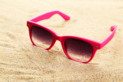 Sunglasses on the beach, sand Stock Image