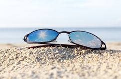 Sunglasses on Beach Stock Photography
