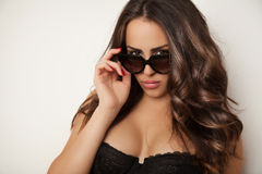 Sunglasses beauty portrait Royalty Free Stock Photos
