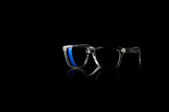 Sunglasses on black background Royalty Free Stock Photos