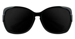 Sunglasses. Black modern stylish sunglasses isolated on white Royalty Free Stock Photos