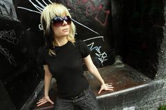 Sunglasses and blond hair Royalty Free Stock Photos