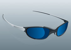 Sunglasses Blue. Blue Sunglasses Cool Vector Drawing Royalty Free Illustration