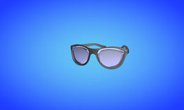 Sunglasses on blue, 3d render Stock Photography