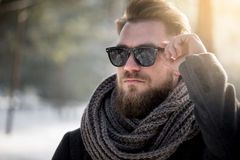 Sunglasses can be useful in winter too Stock Photography